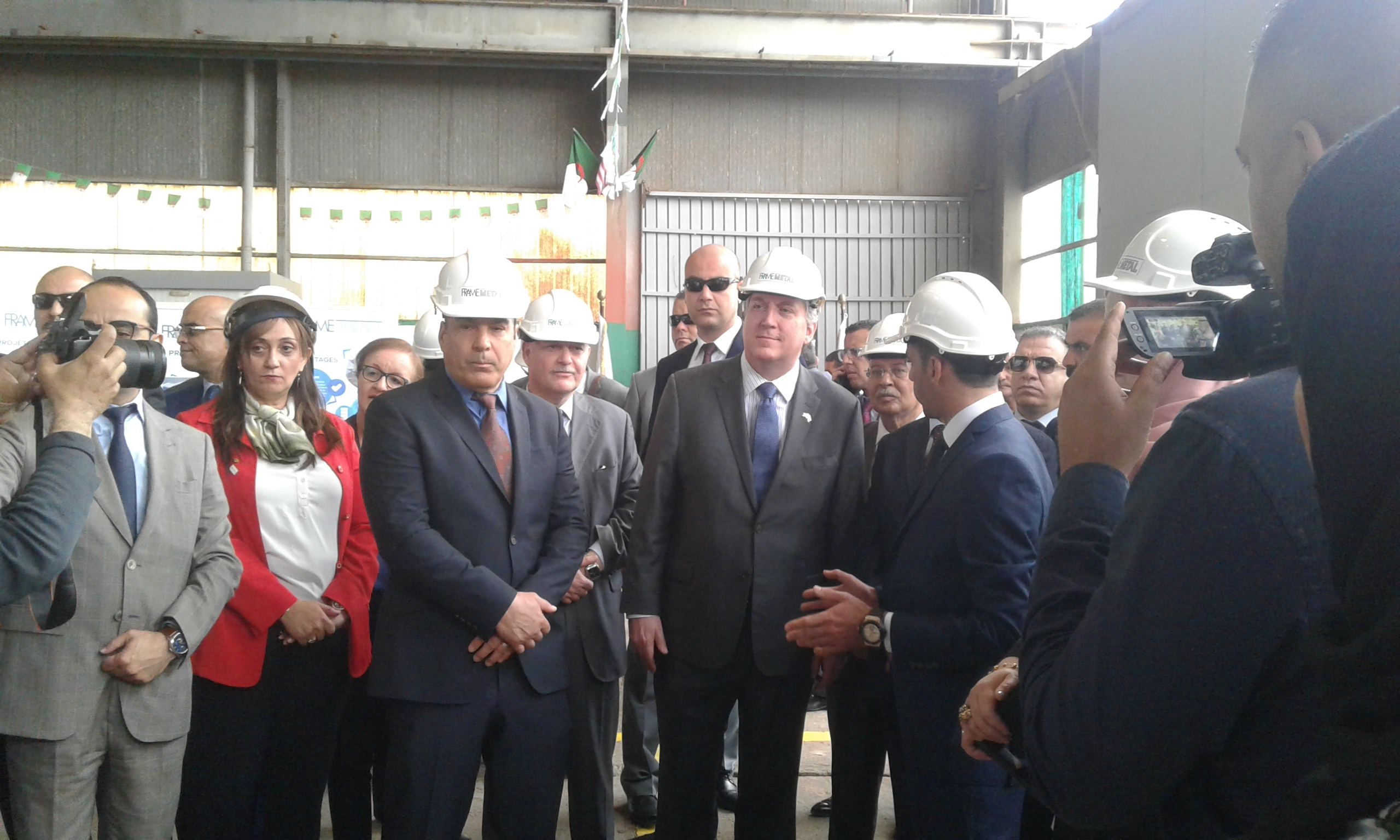 Inauguration of the Frame Metal factory